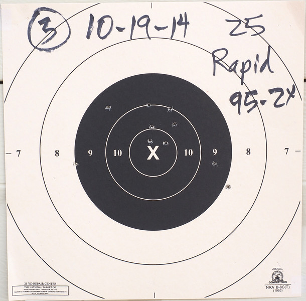 Bullseye practice results after clinic PA192320-L