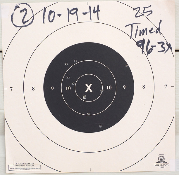 Bullseye practice results after clinic PA192319-L